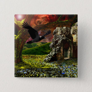 End of days.. The last tree. 15 Cm Square Badge