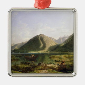 End of Lake Geneva, 1835 (oil on canvas) Christmas Ornament