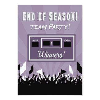 End of Season Team Party Invitation