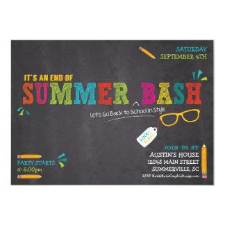 End of Summer / Back to School Bash 13 Cm X 18 Cm Invitation Card