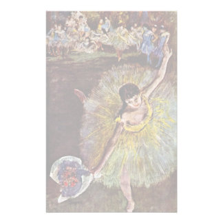 End Of The Arabesque By Edgar Degas Stationery