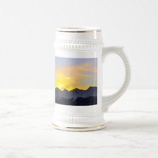 End of the Day in Tierra Del Fuego Beer Steins