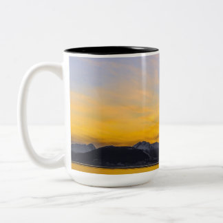 End of the Day in Tierra Del Fuego Two-Tone Mug