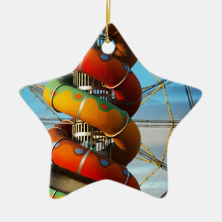 End of the Summer Ceramic Star Decoration