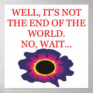 end of the world doom joke poster