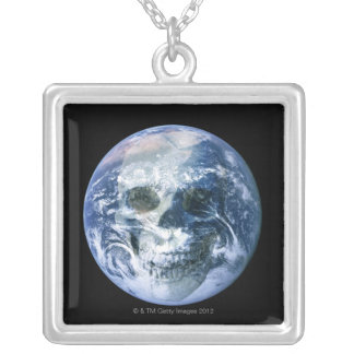 End of the World Square Pendant Necklace