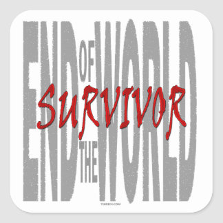 End of the World Survivor Square Sticker