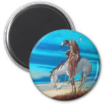 end of trail refrigerator magnet