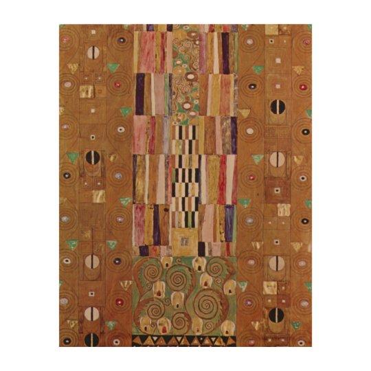 End of Wall, Stoclet Frieze, Klimt, Mosaic Pattern