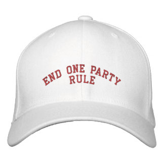 END ONE PARTY RULE BASEBALL CAP