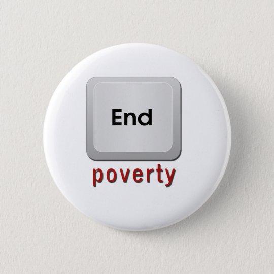 End Poverty 6 Cm Round Badge