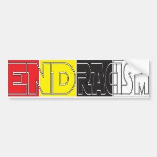 End Racism Bumper Stick Bumper Sticker