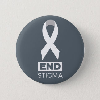 End Stigma for Lung Cancer Pin. 6 Cm Round Badge