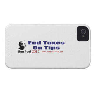 End Taxes On Tips Vote Ron Paul in 2012 iPhone 4 Case-Mate Cases