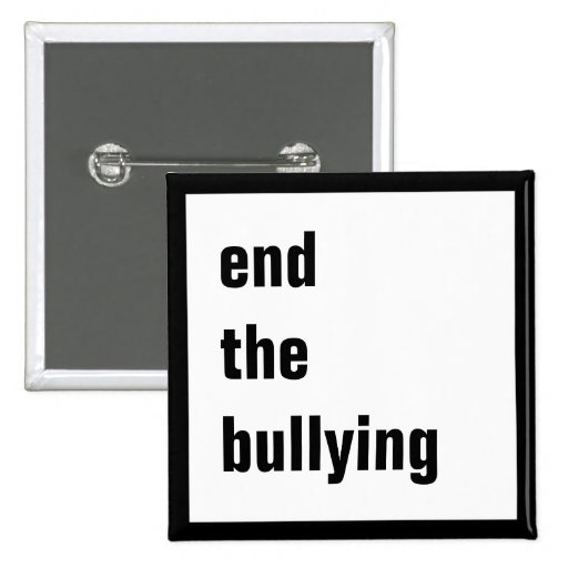 End the Bullying Square Pinback Button