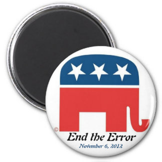 End the Error on November 6, 2012 6 Cm Round Magnet