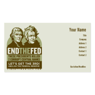 End the Fed Action Cards Business Cards