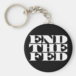 End The Fed Basic Round Button Key Ring