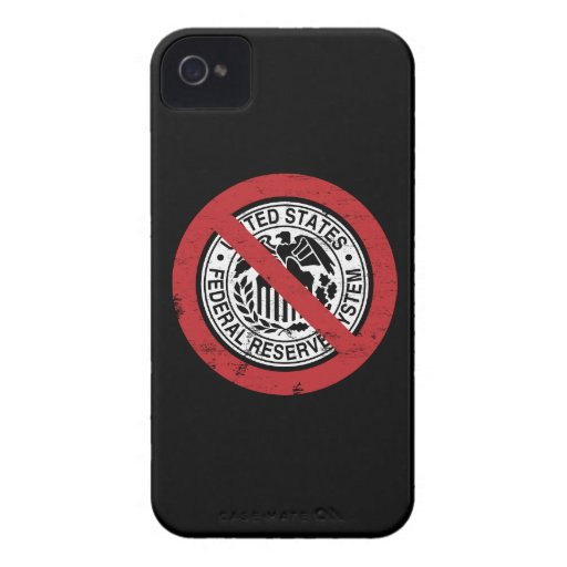 End the Fed Federal Reserve Libertarian iPhone 4 Covers