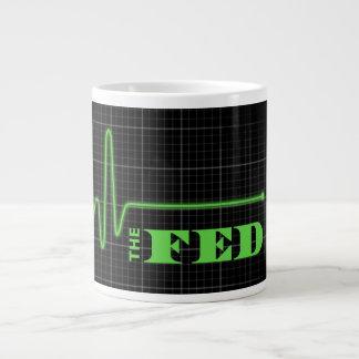 End the Fed Flatlined Jumbo Mug