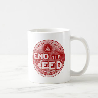 END THE FED - occupy/nwo/banksters/anonymous Basic White Mug