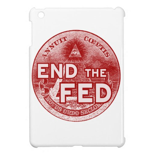 END THE FED - occupy/nwo/banksters/anonymous iPad Mini Cover