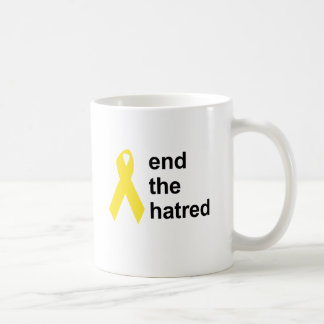 end the hatred classic white coffee mug