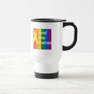 end the hatred 15 oz stainless steel travel mug