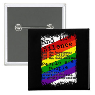 End the Silence 15 Cm Square Badge