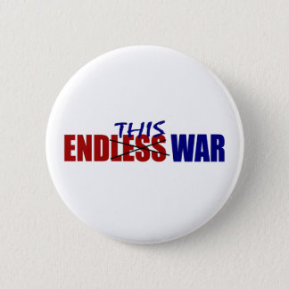 End This War 6 Cm Round Badge