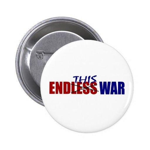End This War Pinback Button