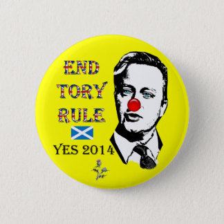 End Tory Rule David Cameron Button Badge