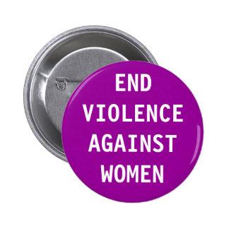 End violence against women buttons