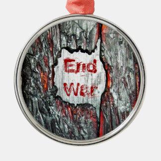End War Round Metal Christmas Ornament