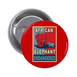 Endangered African Elephant Pop Art Tshirts 6 Cm Round Badge