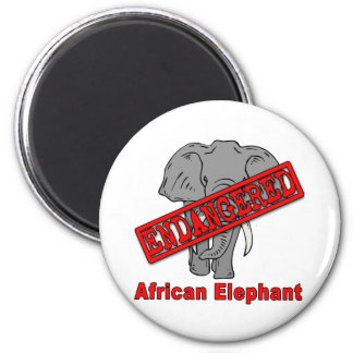 Endangered Animal African Elephant Magnets