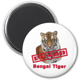 Endangered Bengal Tiger  Products 6 Cm Round Magnet