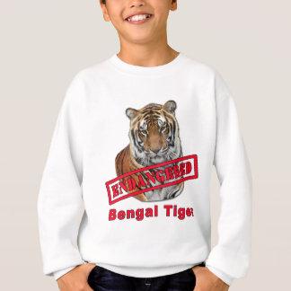 Endangered Bengal Tiger  Products Sweatshirt