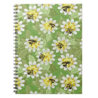 Endangered Bumblebees Spiral Note Book