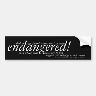 endangered ~ campaign to end racism car bumper sticker