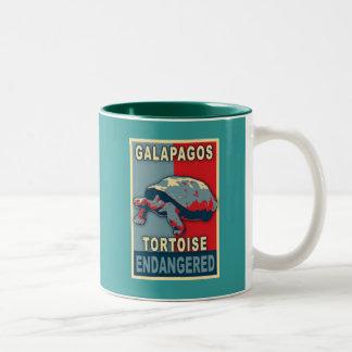 Endangered Galapagos Tortoise Pop Art Tshirts Mug