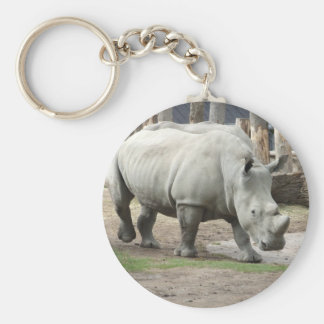 Endangered Northern White Rhinos Key Ring
