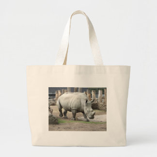 Endangered Northern White Rhinos Large Tote Bag