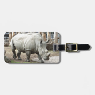 Endangered Northern White Rhinos Luggage Tag