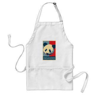 Endangered Panda Pop Art Design Aprons