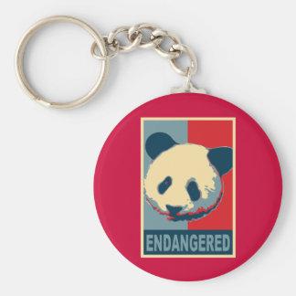 Endangered Panda Pop Art Design Keychains