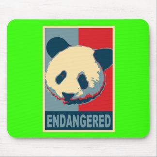 Endangered Panda Pop Art Design Mouse Pads