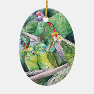 Endangered Parrots of Brazil's Atlantic Rainforest Christmas Ornament