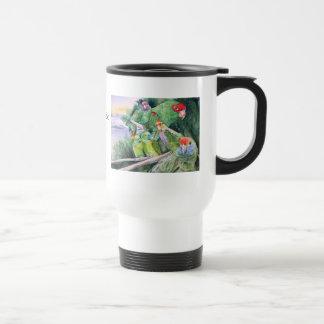 Endangered Parrots of Brazil's Atlantic Rainforest Travel Mug