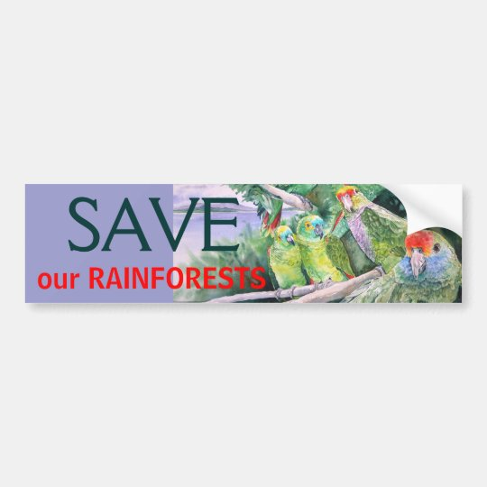 Endangered Parrots of the Atlantic Rainforest Bumper Sticker